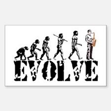 Sax Saxophone Evolution Rectangle Decal