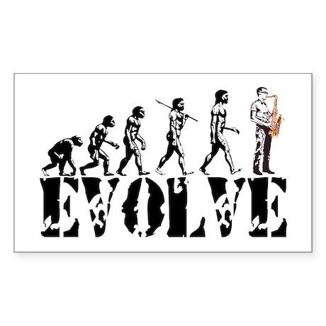 Sax Saxophone Evolution Rectangle Sticker