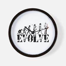 Sax Saxophone Evolution Wall Clock