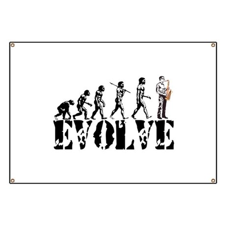 Sax Saxophone Evolution Banner by evolveshop