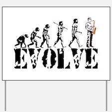 Sax Saxophone Evolution Yard Sign