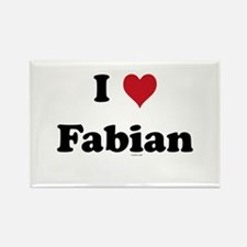 I love Fabian Rectangle Magnet