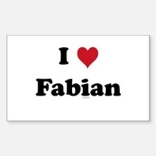 I love Fabian Rectangle Decal