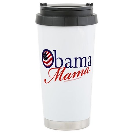 Obama Mama Navy Stainless Steel Travel Mug