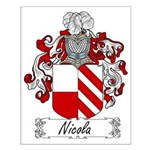 Nicola Family Crest Small Poster