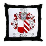 Nicola Family Crest Throw Pillow
