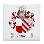 Nicola Family Crest Tile Coaster