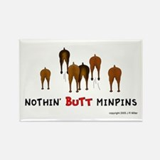 Nothin' Butt MinPins Rectangle Magnet