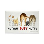 Dog Mutts (Mixed Breeds) Rectangle Magnet