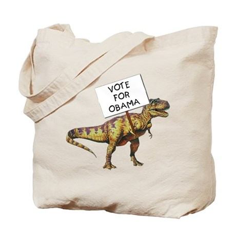 Obama Dinosaur Tote Bag