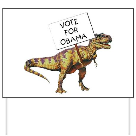 Obama Dinosaur Yard Sign