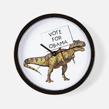 Obama Dinosaur Wall Clock