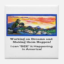American Dreams Tile Coaster