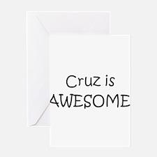 Unique Cruz Greeting Card