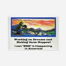 American Dreams Rectangle Magnet