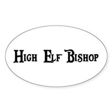 High Elf Bishop Oval Decal