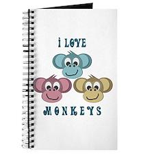 I love Monkeys Retro Style Journal