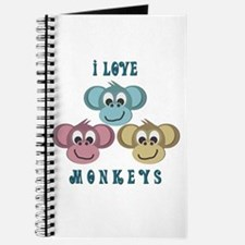 I love Monkeys Retro Style Journal