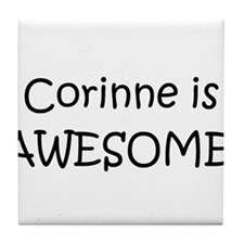 Cute Corinne Tile Coaster