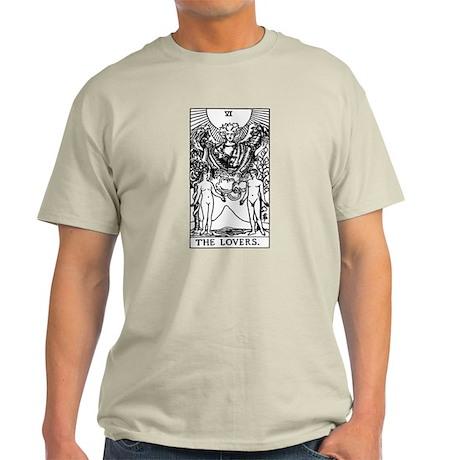 The Lovers Tarot Card Light T-Shirt