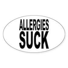 Allergies Suck Oval Sticker