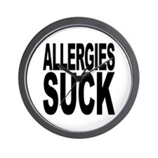 Allergies Suck Wall Clock