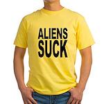 Aliens Suck Yellow T-Shirt