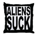 Aliens Suck Throw Pillow