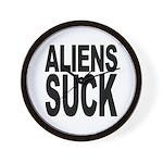 Aliens Suck Wall Clock