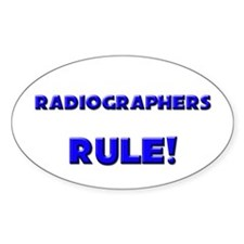 Radiographers Rule! Oval Decal