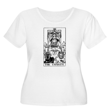 The Chariot Tarot Card Women's Plus Size Scoop Nec