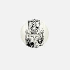 The Chariot Tarot Card Mini Button