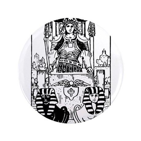 "The Chariot Tarot Card 3.5"" Button"