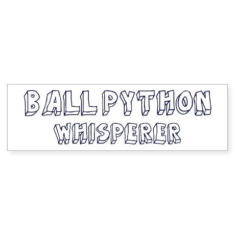 Ball Python Whisperer Bumper Sticker