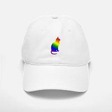 Rainbow Gay Pride Cat Baseball Baseball Cap