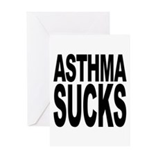 Asthma Sucks Greeting Card