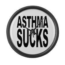 Asthma Sucks Large Wall Clock