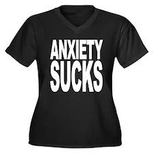 Anxiety Sucks Women's Plus Size V-Neck Dark T-Shir