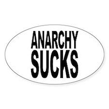 Anarchy Sucks Oval Sticker