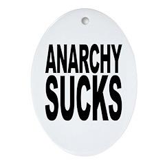Anarchy Sucks Oval Ornament