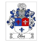 Oliva Family Crest Small Poster