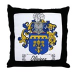 Oliviera Family Crest Throw Pillow