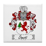 Onesti Family Crest Tile Coaster