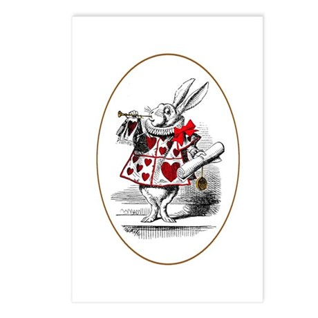 The White Rabbit Postcards (Package of 8)