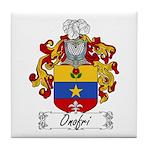 Onofri Family Crest Tile Coaster