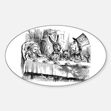 Mad Hatter's Tea Party Oval Decal