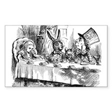 Mad Hatter's Tea Party Rectangle Decal