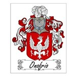 Onofrio Family Crest Small Poster