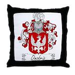Onofrio Family Crest Throw Pillow