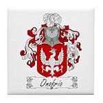 Onofrio Family Crest Tile Coaster
